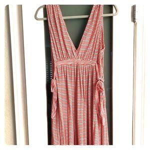 Zara Red & White Stripped Dress